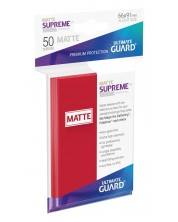 Протектори Ultimate Guard Supreme UX Sleeves Standard Size - Матово червени (50 бр.)