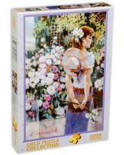 Пъзел Gold Puzzle от 1000 части - В цветна градина