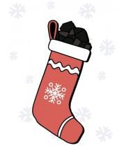 Картичка Мазно Коледа - Чорап с въглени -1