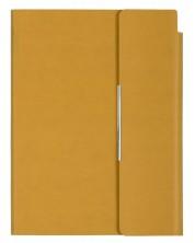Кожен тефтер с магнитен капак Velvet А5 - Жълт -1