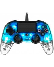 Контролер Nacon за PS4 - Wired Illuminated Compact Controller, crystal blue -1