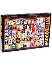Пъзел D-Toys от 1000 части - Винтидж колаж, Кабаре -1