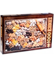 Пъзел D-Toys от 1000 части - Винтидж плакати, Курабийки -1