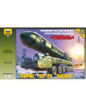 Военен сглобяем модел - Балистично-ракетен комлекс РТ-2 (УТТХ) ТОПОЛ - М
