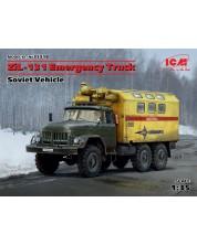 Военен сглобяем модел - Съветски авариен канмион ЗиЛ-131 (ZiL-131 Emergency Truck - Soviet Vehicle)