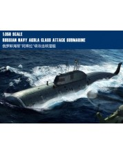 Военен сглобяем модел - Руска подводница ССН Акула (SSN Akula Class Attack Submarine)