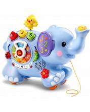 Образователна играчка Vtech - Слонче, за дърпане -1