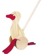 Дървена играчка за бутане Goki - Пате -1