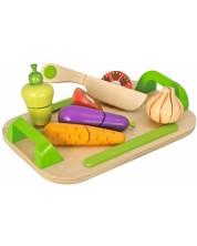 Дървен комплект Eichhorn - Дъска за рязане, със зеленчуци