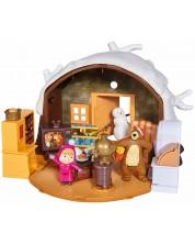 Комплект за игра Simba Toys Маша и мечока - Зимна къща на мечока