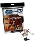 Сглобяем модел на космически кораб Revell Easykit Pocket STAR WARS - Republic Gunship (06729) - 3t