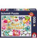 Пъзел Schmidt от 1000 части - Честит рожден ден - 1t