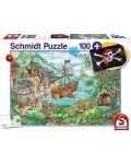 Пъзел Schmidt от 100 части - Пиратски остров, с пиратско знаме - 1t