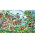 Пъзел Schmidt от 100 части - Пиратски остров, с пиратско знаме - 2t