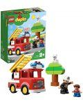 Конструктор Lego Duplo - Пожарникарски камион (10901) - 5t