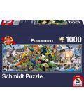Панорамен пъзел Schmidt от 1000 части - Животинско царство - 1t