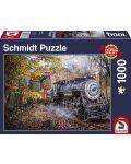 Пъзел Schmidt от 1000 части - Влакът в гората - 1t