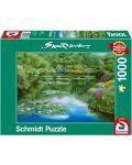 Пъзел Schmidt от 1000 части - Езерото с водните лилии, Сам Парк - 1t
