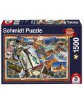 Пъзел Schmidt от 1500 части - Поздрави от различни точки на света - 1t