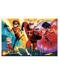 Пъзел Trefl от 100 части - Супергеройско семейство, Incredibles 2 - 1t