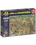 Пъзел Jumbo от 1000 части - Обсада на замъка, Ян ван Хаастерен - 1t