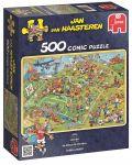 Пъзел Jumbo от 500 части - Футболен мач, Ян ван Хаастерен - 1t