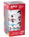 Стикери на ролка APLI - Очички, 1380 броя - 1t