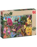 Пъзел Jumbo от 1500 части - Градината на колибритата - 1t
