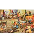 Пъзел Jumbo от 1000 части - Къщата на гномите, Рин Портфлит - 2t