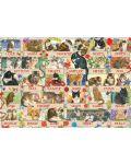 Пъзел Jumbo от 1000 части - Годишнина на котките на Франсин - 2t