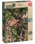 Пъзел Jumbo от 1000 части - Жирафи - 1t
