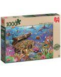Пъзел Jumbo от 1000 части - Подводно съкровище - 1t