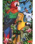 Пъзел Jumbo от 1000 части - Впечатляващи папагали - 2t