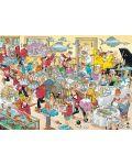 Пъзели Jumbo 2 х 1000 части - Вечеря с морски дарове и Сблъсъкът на хлебарите, Ян ван Хаастерен - 2t