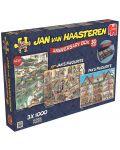 Пъзели Jumbo 3 х 1000 части - Комплект по случай 30-годишнината, Ян ван Хаастерен - 1t