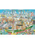 Пъзел Jumbo от 1000 части - Хаос на пристанището, Ян ван Хаастерен - 2t