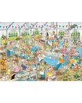 Пъзели Jumbo 2 х 1000 части - Вечеря с морски дарове и Сблъсъкът на хлебарите, Ян ван Хаастерен - 3t