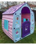 Детска градинска къща за игра Starplast - Unicorn Grand House - 4t
