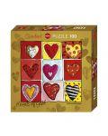 Мини пъзел Heye от 100 части - Hearts of Gold All The 9, Стефани Щайнмайер - 1t