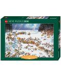 Пъзел Heye от 2000 части - Зимата на Наполеон, Жан-Жак Луп - 1t