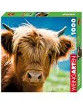 Пъзел Heye от 1000 части - Високопланинска крава - 1t