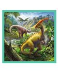 Пъзел Trefl 3 в 1 - Динозавърски свят - 4t