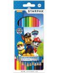 Комплект цветни моливи Starpak Paw Patrol - 12 цвята - 1t