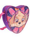 Детска чанта за рамо Starpak Paw Patrol - Сърце, с пайети, асортимент - 2t
