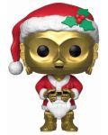 Фигура Funko Pop! Star Wars: Holiday Santa C-3PO (Bobble-Head), #276 - 1t