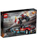 Конструктор Lego Technic - Камион и мотоциклет за каскади (42106) - 1t