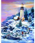 Пъзел SunsOut от 1000 части - Коледен фар, Сандра Бергерон - 1t
