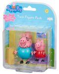 Комплект фигурки Peppa Pig - 2 фигурки с декор, асортимент - 1t