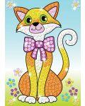 Творчески комплект KSG Crafts Sequin Art - Изкуство с пайети, Котки - 2t