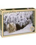 Пъзел Cobble Hill от 1000 части - Снежен рис, Робърт Бейтмън - 1t
